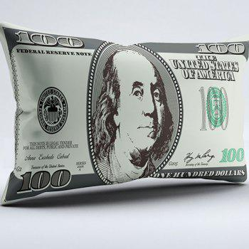 Brushed Fabric Dollar Print Money Pillow Case - COLORMIX W20 INCH * L36 INCH