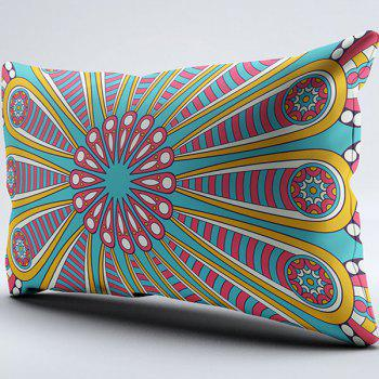 Mandala Flower Print Brushed Fabric Pillow Case - W20 INCH * L36 INCH W20 INCH * L36 INCH