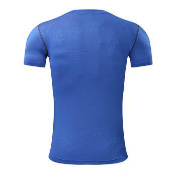Geometry Pattern Quick Dry Activewear - BLUE L