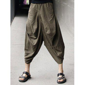 Low-slung Crotch Linen Nine Minutes of Parachute Pants