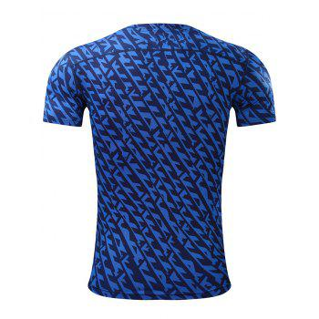 All Over Printed Quick Dry Breathable Sport T-shirt - 5XL 5XL