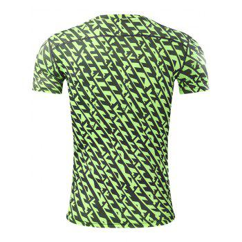 All Over Printed Quick Dry Breathable Sport T-shirt - L L