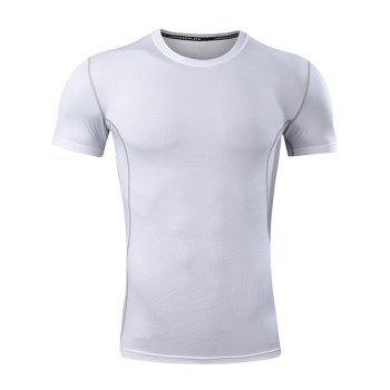 Geometry Pattern Quick Dry Activewear - WHITE WHITE