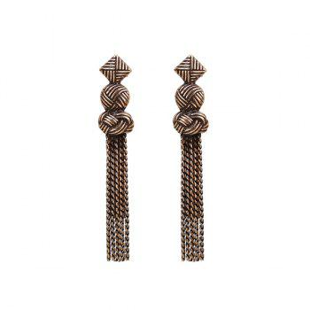 Gypsy Geometric Fringed Chain Earrings