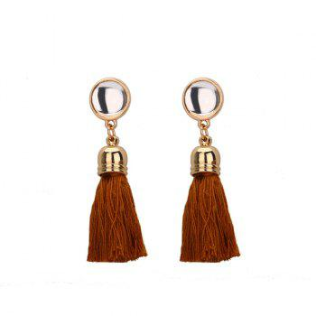 Vintage Tassel Embellished Drop Earrings