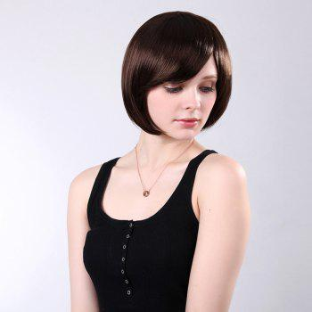 Oblique Bang Short Straight Bob Synthetic Wig