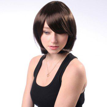 Neat Bang Short Glossy Straight Bob Synthetic Wig