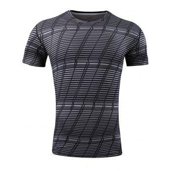 Striped Pattern Quick Dry Activewear