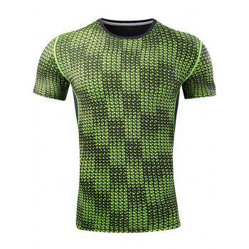 Grid Pattern Quick Dry Activewear