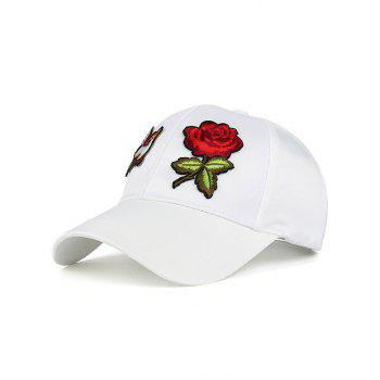 Sunscreen Bird Flower Embellished Baseball Hat