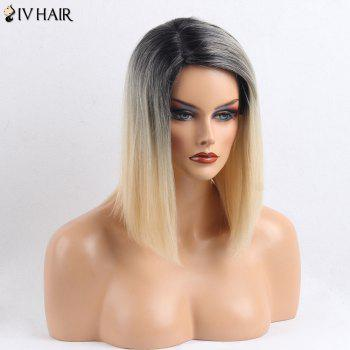 Siv Hair Side Part Straight Medium Colormix Human Hair Wig