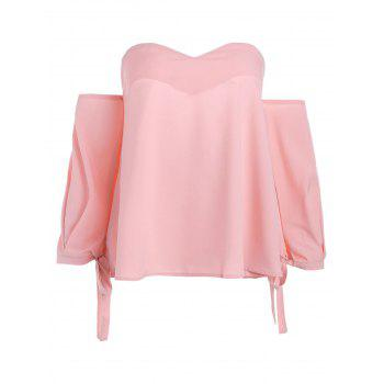 Chiffon Off The Shoulder Blouse