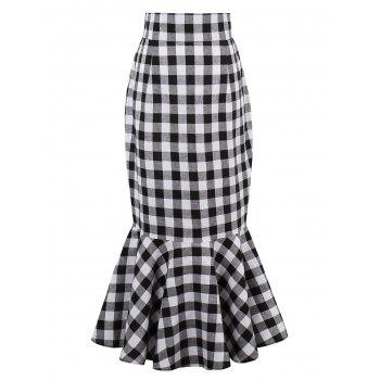 Tartan High Waist Mermaid Skirt