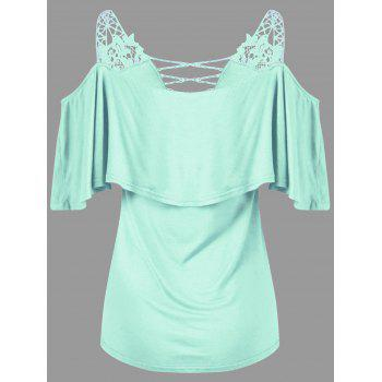 2018 dew shoulder overlay applique t shirt mint xl in tees for Applique shirts for sale