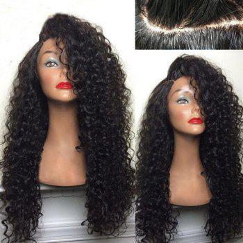 "<P>Long Shaggy Deep Side Parting Kinky Curly Synthetic Wig</P><I Class=""Icon Down Js Tap Up Down""></I> by Dress Lily"