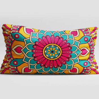 Brushed Fabric Pillow Case with Flower Print - COLORMIX W20 INCH * L36 INCH