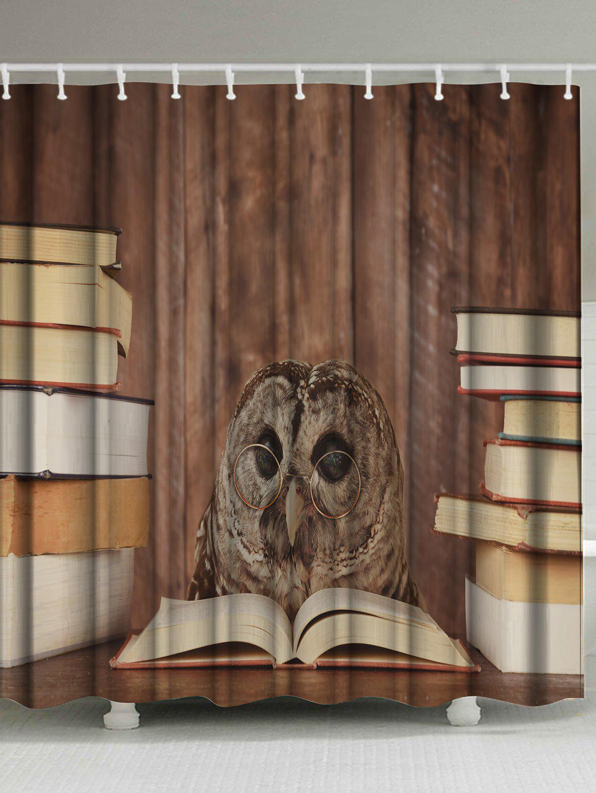 Eco-Friendly Owl Doctor Fabric Shower Curtain brick wall design eco friendly shower curtain