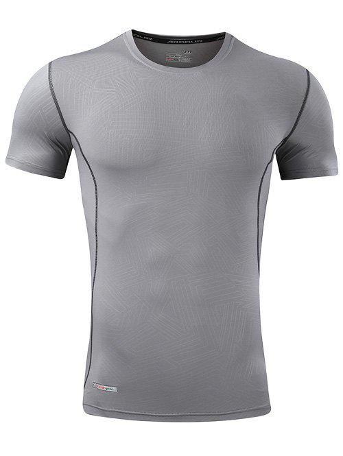 Geometry Pattern Quick Dry Activewear - GRAY XL