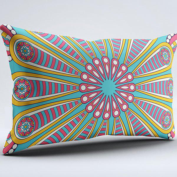 Mandala Flower Print Brushed Fabric Pillow Case - COLORMIX W20 INCH * L36 INCH
