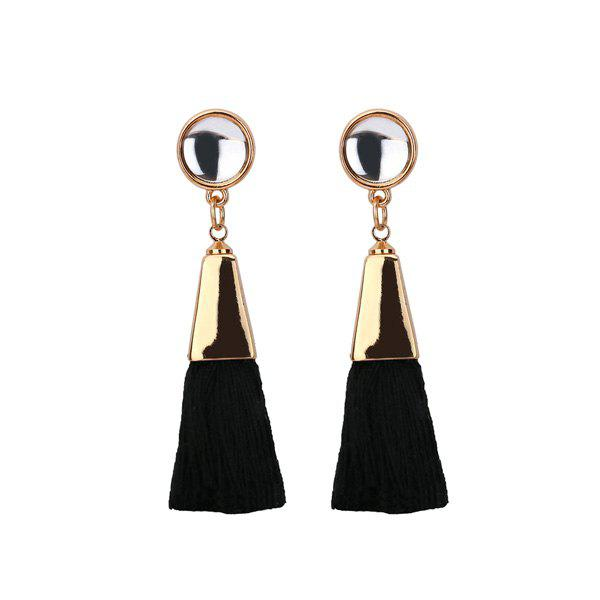 Vintage Tassel Resin Drop Earrings vintage crescent tear drop earrings