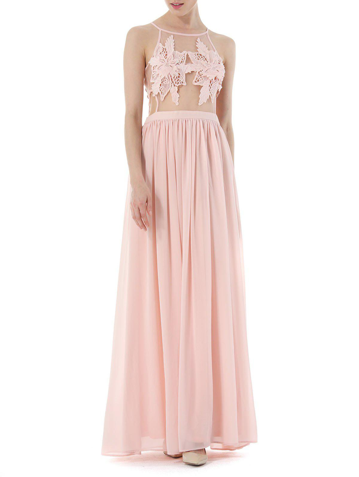 2018 Cochet Lace High Waisted Formal Prom Dress PINK S In Maxi ...