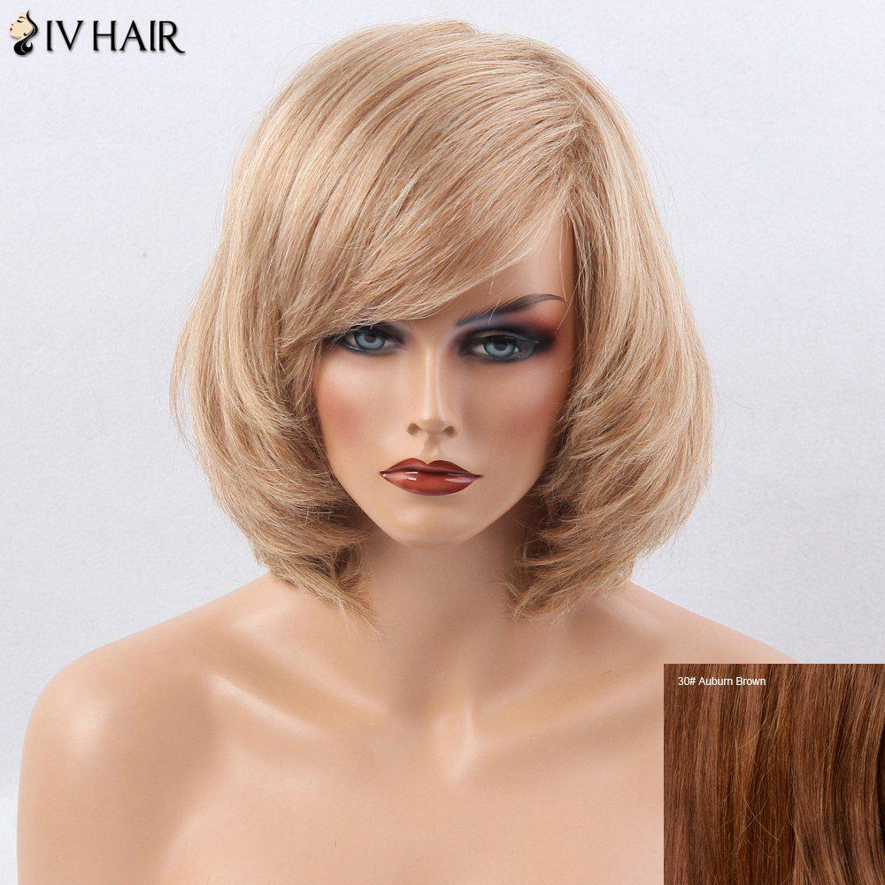 Siv Hair Oblique Bang Short Straight Bob Perruque de cheveux humains -