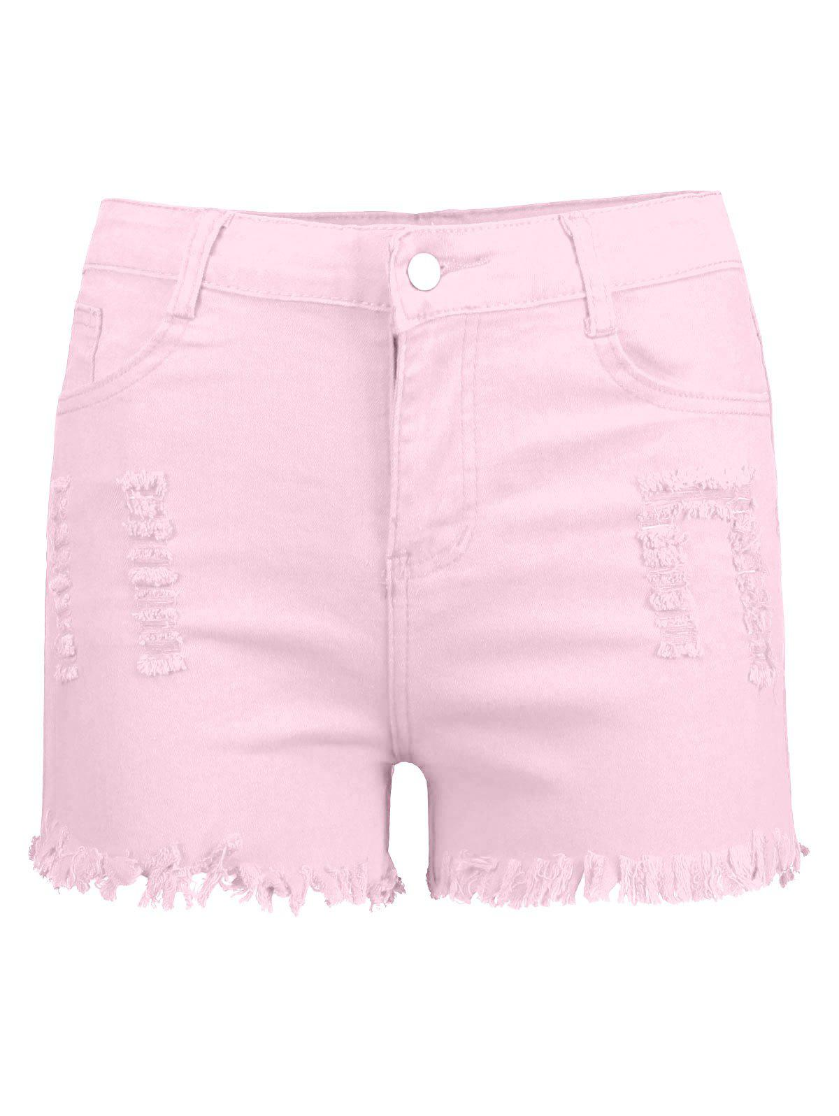 Frayed Ripped High Waisted Denim Shorts bwgh brooklyn we go hard pубашка