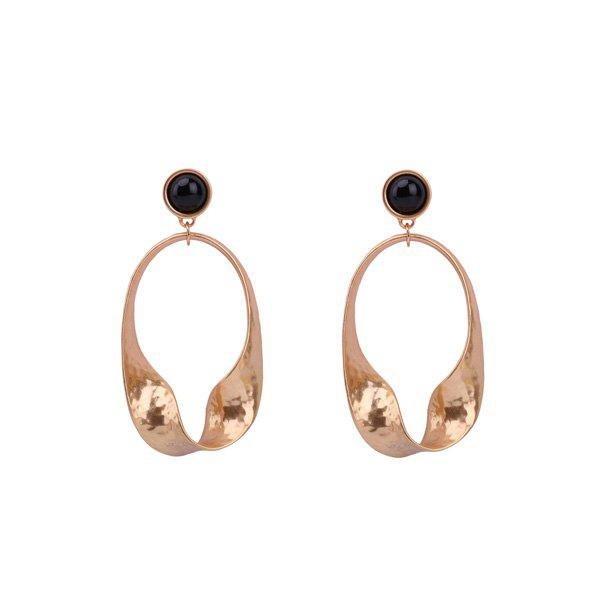 Metal Vintage Oval Drop Earrings metal hand design drop earrings