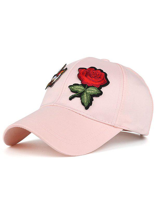 Sunscreen Bird Flower Embellished Baseball Hat - PINK