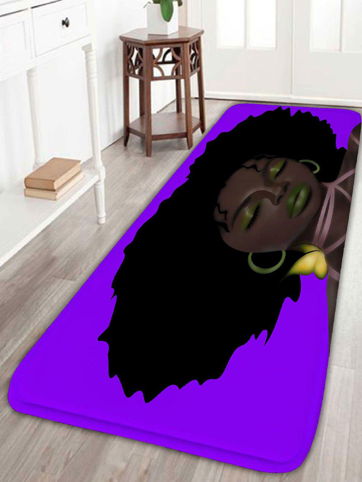 Afro Hair Girl Print Water Absorption Flannel Bathroom Rug katy perry copenhagen