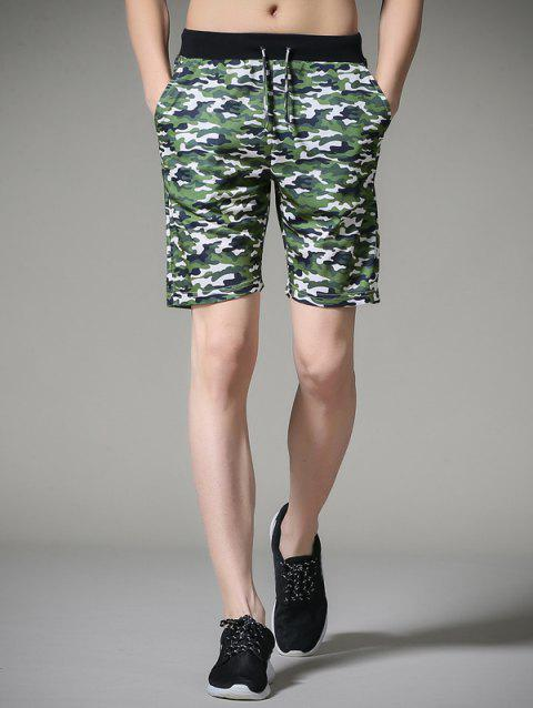 Camouflage Drawstring Board Shorts - CAMOUFLAGE 3XL
