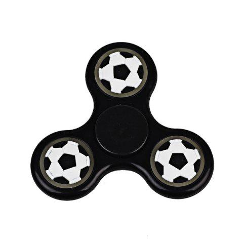 Glow in the dark Focus Toy Football Fidget Spinner - Noir
