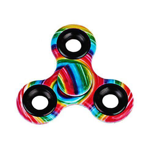 Stress Relief Toys Printed Hand Fidget Spinner - Jaune