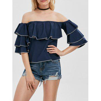 Off The Shoulder Flounce Layer Blouse