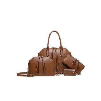 Elegant Zips and PU Leather Design Tote Bag For Women
