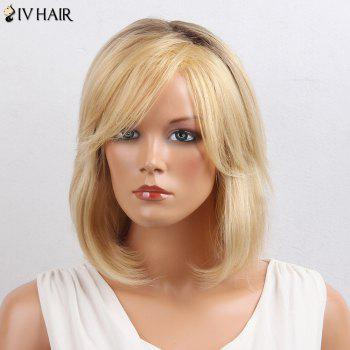 Siv Hair Oblique Bang Colormix Short Straight Bob Human Hair Wig -  COLORMIX