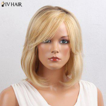 Siv Hair Oblique Bang Colormix Short Straight Bob Human Hair Wig - COLORMIX COLORMIX