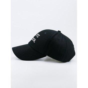 I Hate School Embroideried Baseball Hat -  BLACK