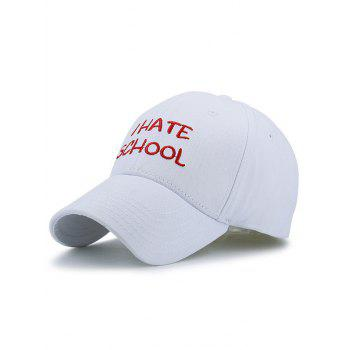 I Hate School Embroideried Baseball Hat