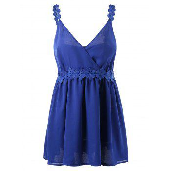 Laced Plus Size Chiffon Slip Dress