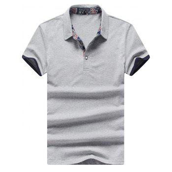 Half Button Short Sleeves Polo Shirt
