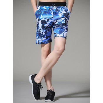 Leopard Flower Print Board Shorts