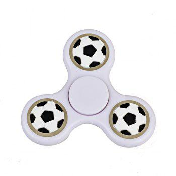 Glow in the dark Focus Toy Football Fidget Spinner - WHITE WHITE