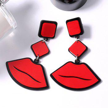 Novelty Lip Pendant Geometrical Drop Earrings