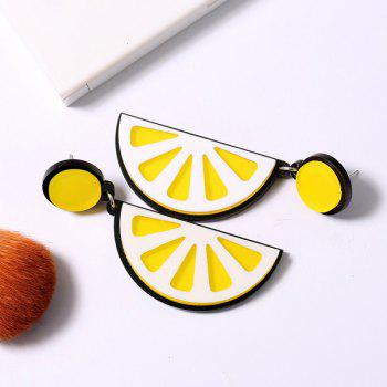 Fruit Lemon Drop Earrings - YELLOW