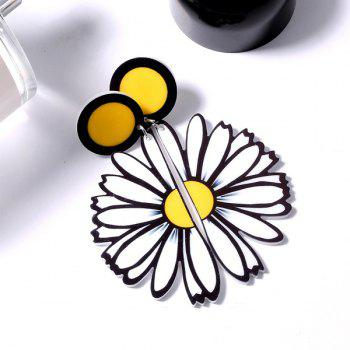 Half Daisy Drop Earrings