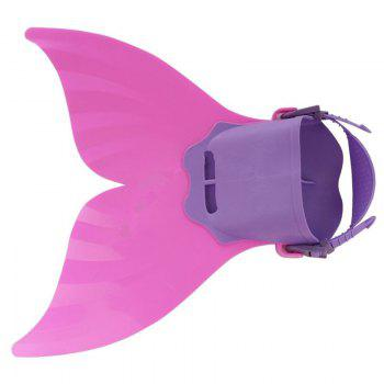 Adult Adjustable Mermaid Tail Swimming Fins -  PINK