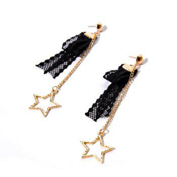 Lace Star Vintage Chain Earrings