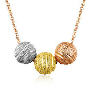 Ball Gold Plated Pendant Necklace - ROSE GOLD ROSE GOLD