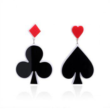 Geometric Heart Poker Funny Earrings